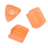 Triangular Beads 5X5mm Apricot Matte Solgel